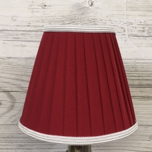 Pleated Red & White Candle shade