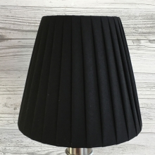 Ribbon Clip on Candle Shade Black