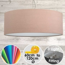 Cara XL Drum Ceiling Light Rosemist