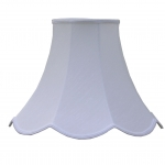 Scalloped Bowed Empire White