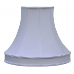 Skirted Bowed Empire Lampshade White