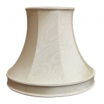 Skirted Bowed Empire Lampshade Oyster