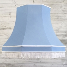 Retro Pendant Shade Blue Cotton