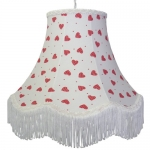 Cotton Lampshade Strawberry Heart