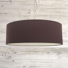 Thin Drum Pendant Aubergine