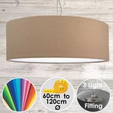 Cara XL Drum Ceiling Light Taupe