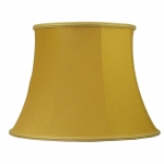 Bowed Drum Lampshade Gold Dupion