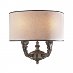 Two-Light Wall Light with Silk Shade