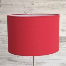 Warm Red Table Lamp Shade