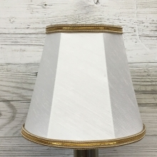 Empire Candle Shade White & Gold