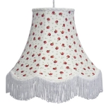 Floral Print Lamp Shade Red Apple