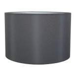 Drum Table Lampshade in Charcoal Cotton.