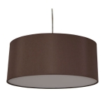 Drum Pendant Shade in Chocolate Cotton