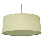 Drum Pendant Shade in Cream Cotton