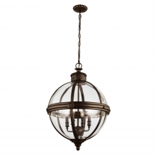 Adams 4 Light Bronze Pendant