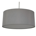 Drum Pendant Shade in Grey Cotton