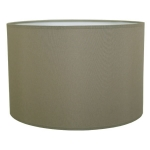 Drum Table Lampshade in Grey Cotton.