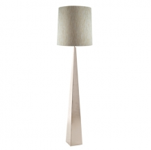 Ascent polished nickel floor lamp and shade