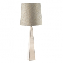 Ascent nickel table lamp and shade