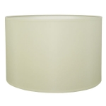 Drum Table Lampshade in Ivory Cotton.