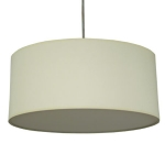 Drum Pendant Shade in Ivory Cotton