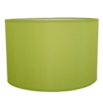 Drum Table Lampshade in Lime Green Cotton.