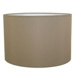 Drum Table Lampshade in Mushroom Cotton.