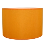 Drum Table Lampshade in Orange Cotton.