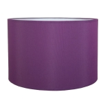 Drum Table Lampshade in Purple Cotton.