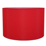 Drum Table Lampshade in Red Cotton.