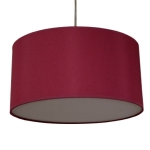 Drum Pendant Shade in Wine Cotton