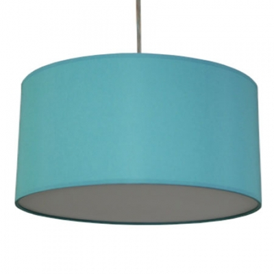 drum pendant shade in turquoise cotton imperial lighting. Black Bedroom Furniture Sets. Home Design Ideas
