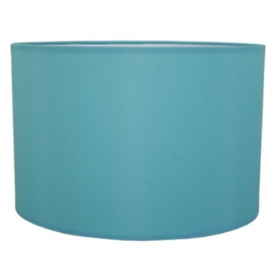 drum table lampshade in turquoise cotton imperial lighting. Black Bedroom Furniture Sets. Home Design Ideas