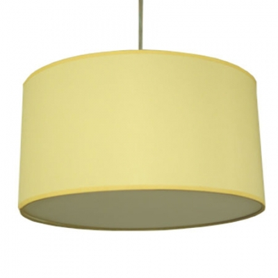 drum pendant shade in yellow cotton imperial lighting