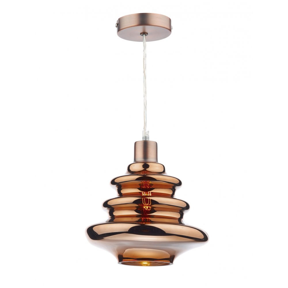 Zephyr Glass Pendant Copper Imperial Lighting