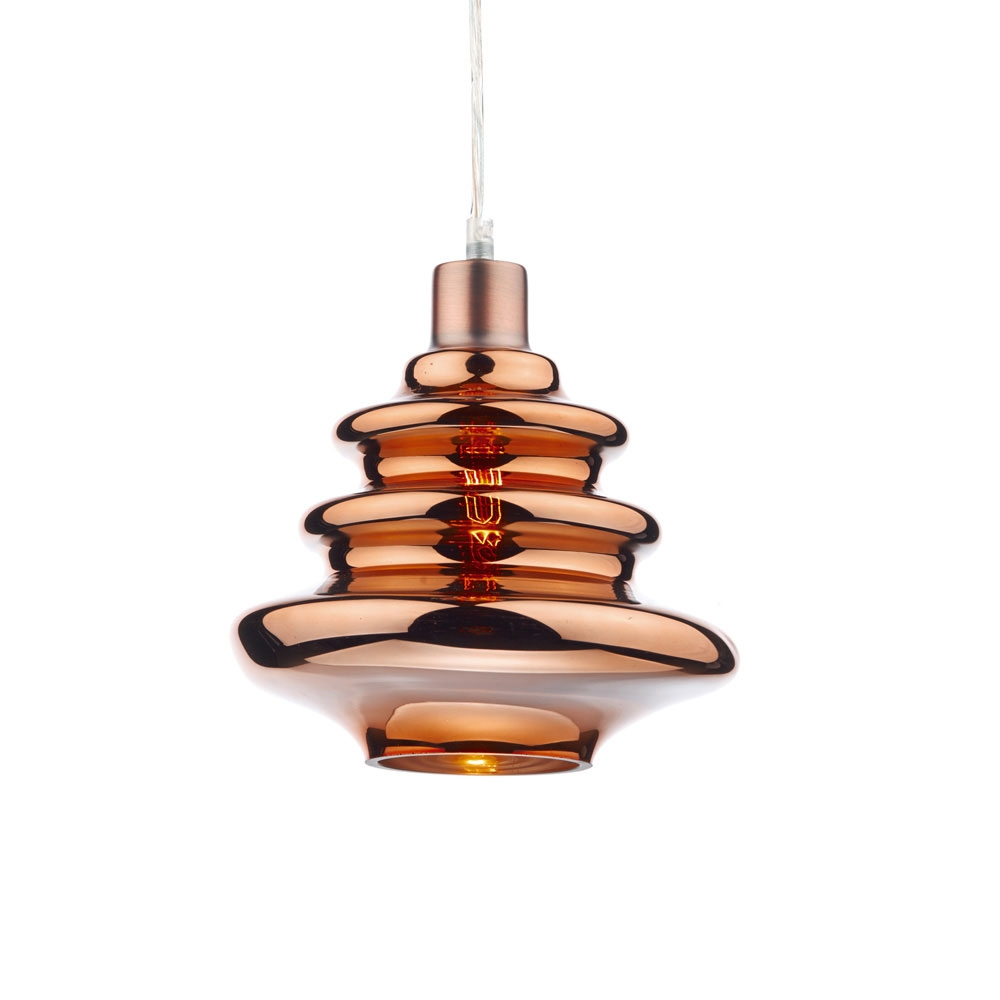 Zephyr Glass Pendant Copper