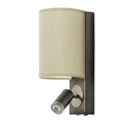 Adjustable Arm Wall Light With Black Shade