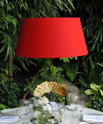 Red Lamp shades