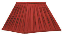 Red Pleated Lamp Shade